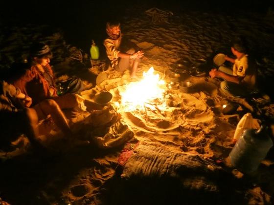 camp fire safari
