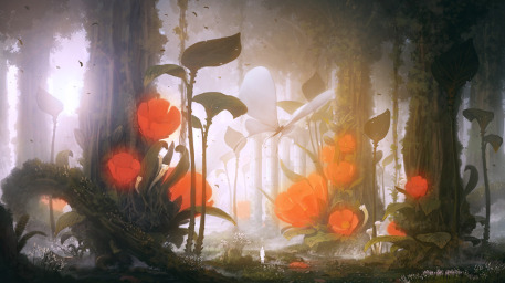 Mysterious_forest_2d_fantasy_butterfly_forest